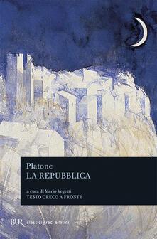 La Repubblica. Testo greco a fronte - Platone - copertina