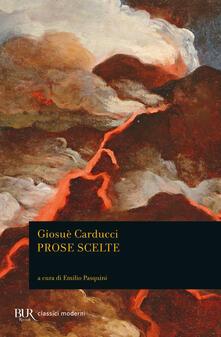Prose scelte - Giosuè Carducci - copertina