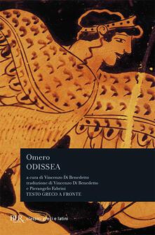 Odissea. Testo greco a fronte - Omero - copertina