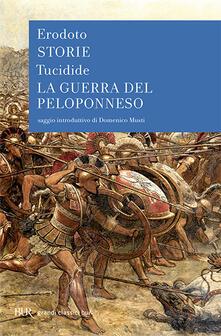 Le storie-La guerra del Peloponneso - Erodoto,Tucidide - copertina