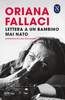 Lettera ad un bambino mai nato - Oriana Fallaci - copertina