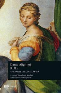 Libro Rime. Giovanili e della «Vita Nova» Dante Alighieri