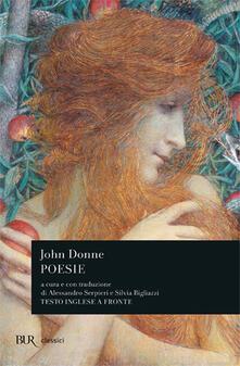 Poesie. Testo inglese a fronte - John Donne - copertina