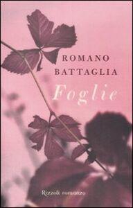 Libro Foglie Romano Battaglia