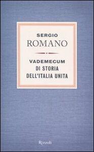 Foto Cover di Vademecum di storia dell'Italia unita, Libro di Sergio Romano, edito da Rizzoli