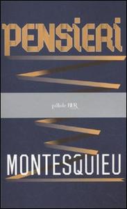 Libro Pensieri Charles L. de Montesquieu