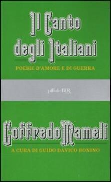 Antondemarirreguera.es Il canto degli italiani. Poesie d'amore e di guerra Image