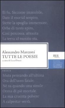 Tutte le poesie - Alessandro Manzoni - copertina