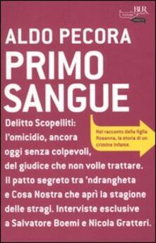 Primo sangue - Aldo Pecora - copertina