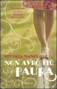 Libro Non avrò più paura Georgia Manzi
