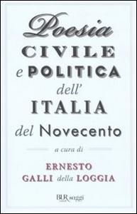 Libro Poesia civile e politica dell'Italia del Novecento