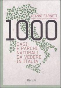 Foto Cover di 1000 oasi e parchi naturali da vedere in Italia, Libro di Gianni Farneti, edito da Rizzoli
