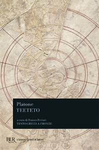 Libro Teeteto. Testo greco a fronte Platone