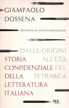 Steamcon.it Storia confidenziale della letteratura italiana. Vol. 1: Dalle origini all'età del Petrarca. Image