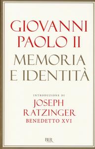 Libro Memoria e identità Giovanni Paolo II