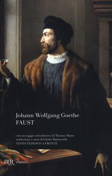 Faust - Johann Wolfgang Goethe - copertina