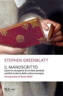 Promoartpalermo.it Il manoscritto. Come la riscoperta di un libro perduto cambiò la storia della cultura europea Image