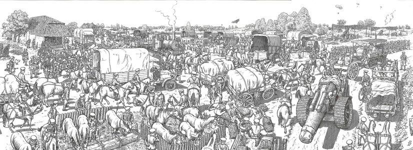 Foto Cover di La grande guerra. 1 luglio 1916: il primo giorno della battaglia della Somme. Un'opera panoramica, Libro di Joe Sacco, edito da Rizzoli Lizard 1