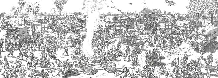 Foto Cover di La grande guerra. 1 luglio 1916: il primo giorno della battaglia della Somme. Un'opera panoramica, Libro di Joe Sacco, edito da Rizzoli Lizard 5