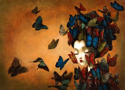 Libro Madame Butterfly Benjamin Lacombe 3