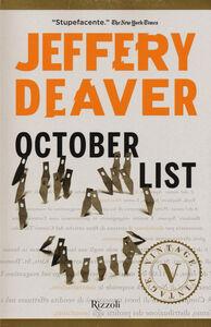 Foto Cover di October List, Libro di Jeffery Deaver, edito da Rizzoli