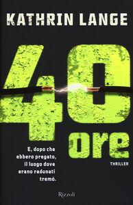 Libro 40 ore Kathrin Lange