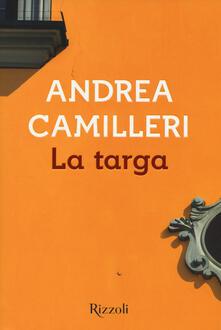 La targa - Andrea Camilleri - copertina