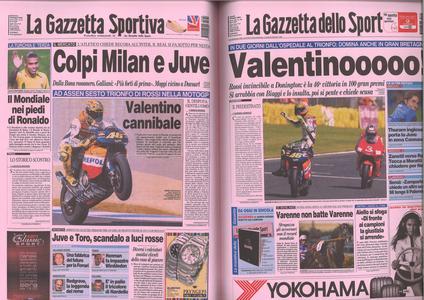 """Libro Vale! Il mito di Valentino Rossi nelle pagine de """"La Gazzetta dello Sport""""  3"""