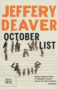 Libro October List Jeffery Deaver