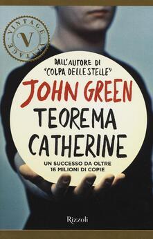 Teorema Catherine - John Green - copertina