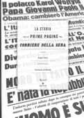 Libro La storia nelle prime pagine del Corriere della Sera