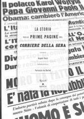 La storia nelle prime pagine del Corriere della Sera