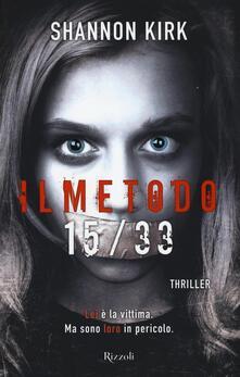 Il metodo 15/33 - Shannon Kirk - copertina