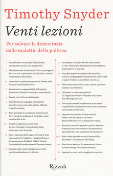 Mercatinidinataletorino.it Venti lezioni. Per salvare la democrazia dalle malattie della politica Image