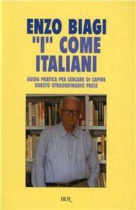 Libro I come italiani Enzo Biagi