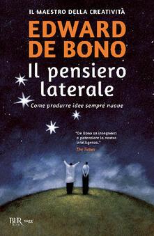 Il pensiero laterale - Edward De Bono - copertina
