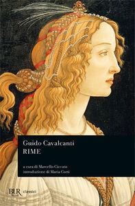 Foto Cover di Rime, Libro di Guido Cavalcanti, edito da BUR Biblioteca Univ. Rizzoli