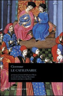 Le catilinarie. Testo latino a fronte - Marco Tullio Cicerone - copertina