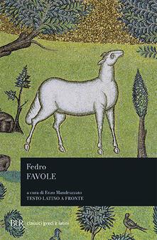 Favole. Testo latino a fronte - Fedro - copertina