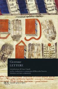 Libro Lettere. Testo latino a fronte M. Tullio Cicerone
