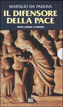 Promoartpalermo.it Il difensore della pace. Testo latino a fronte Image