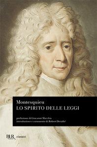 Libro Lo spirito delle leggi Charles L. de Montesquieu