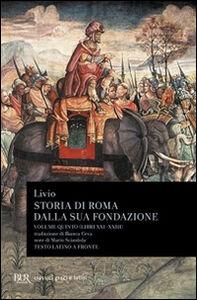 Libro Storia di Roma dalla sua fondazione. Testo latino a fronte. Vol. 5: Libri 21-23. Tito Livio