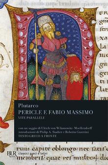 Criticalwinenotav.it Vite parallele. Pericle e Fabio Massimo. Testo greco a fronte Image