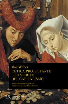 L' etica protestante e lo spirito del capitalismo - Max Weber - copertina