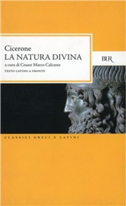 La natura divina - Marco Tullio Cicerone - copertina