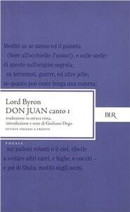 Libro Don Juan. Canto 1º. Testo inglese a fronte George G. Byron