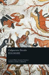 Libro Egloghe Siculo Calpurnio