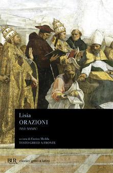 Ipabsantonioabatetrino.it Orazioni XVI-XXXIV. Frammenti. Testo greco a fronte Image