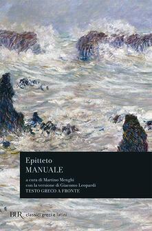 Manuale di Epitteto - Epitteto - copertina